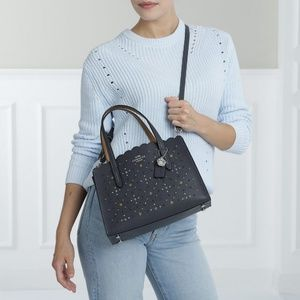 NEW Coach Studs Jewelled Scalloped Leather bag